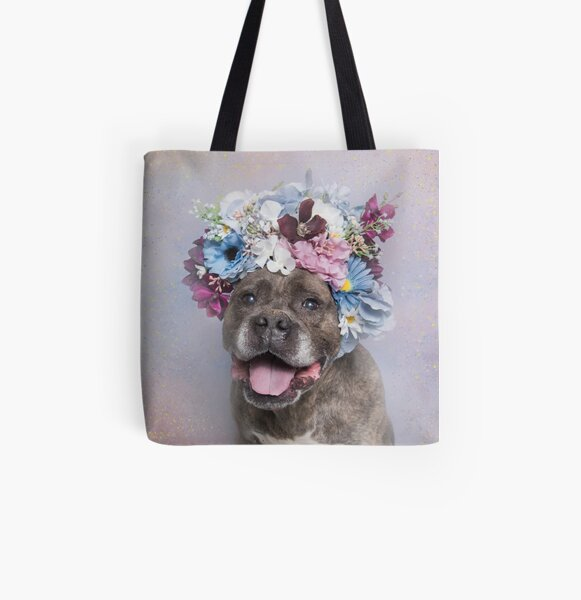 Flower Power, Rumple All Over Print Tote Bag