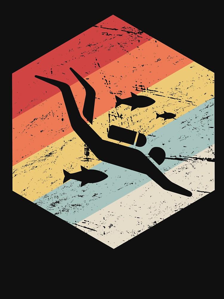 Retro 70er Jahre Scuba Diver Icon von ethandirks