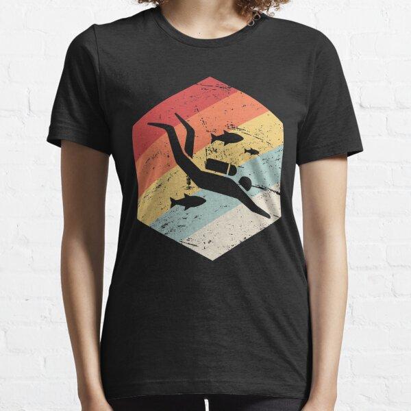 Retro 70s Scuba Diver Icon Essential T-Shirt