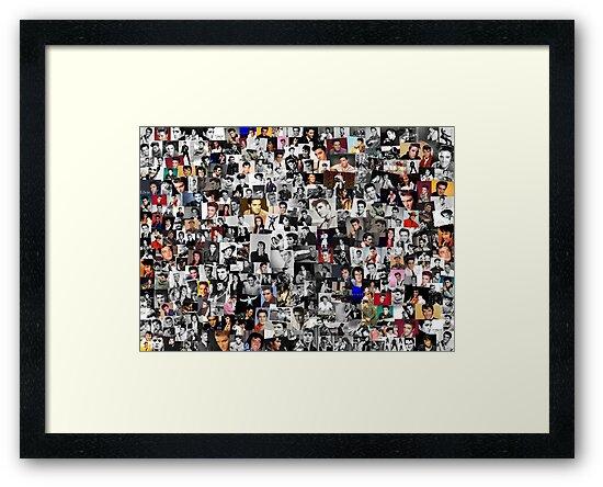 Láminas enmarcadas «Collage de Elvis Presley» de chris2766 | Redbubble