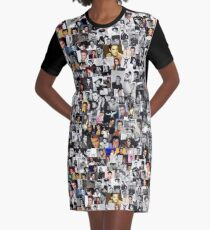 Elvis presley collage Graphic T-Shirt Dress