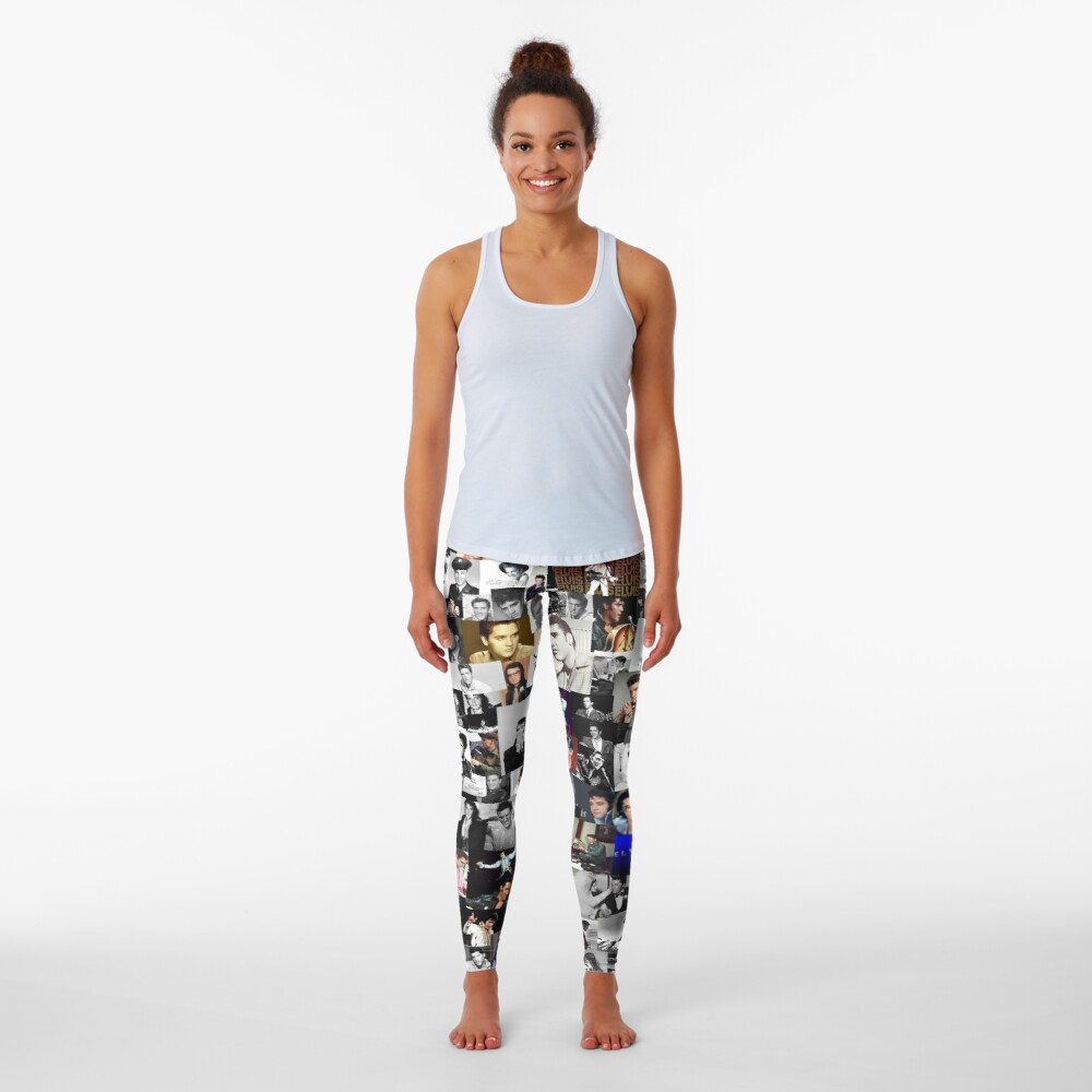 Elvis presley collage Leggings