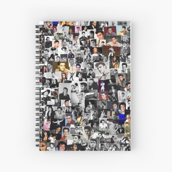 Elvis presley collage Spiral Notebook