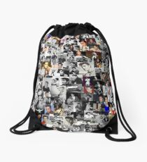 Elvis presley collage Drawstring Bag