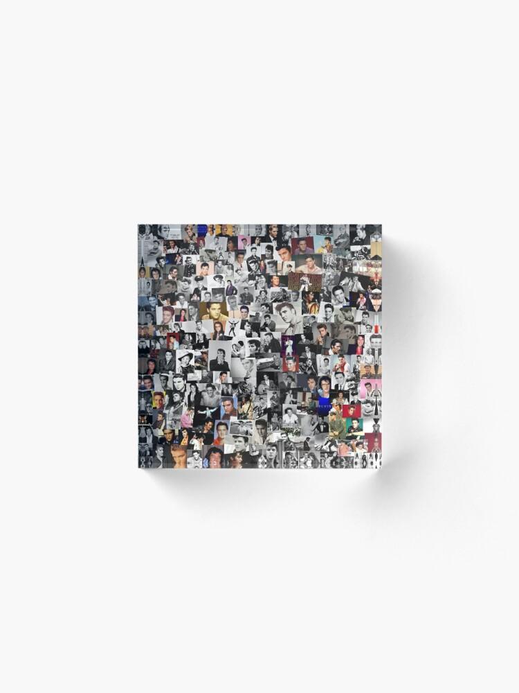 Alternate view of Elvis presley collage Acrylic Block