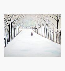 The  Silent Snowfall  Walk  /  Central  Park  NYC      Photographic Print