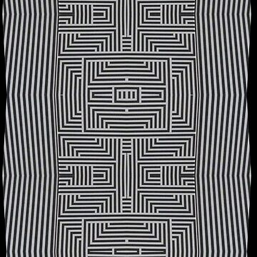 Black and White Labyrinth by Factory23