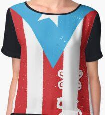 Puerto Rico Flag Boricua T-Shirt Chiffon Top