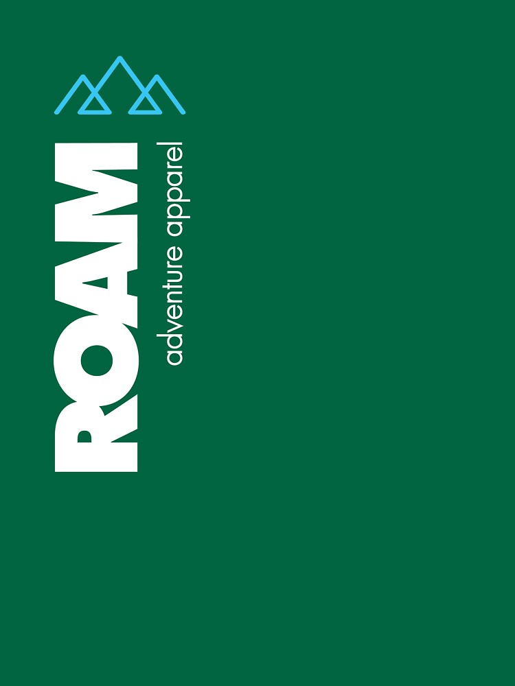 ROAM Apparel Vert Mountain Logotipo de jpburdett