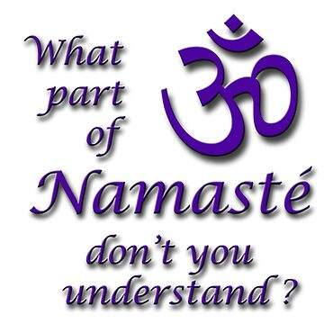 What part of Namaste'...? by LGBT-shirts