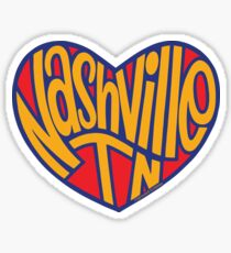 Nashville Tennessee Heart Sticker