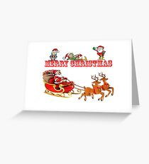 Merrry Chrismas and a Happy New Year Greeting Card