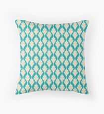 Green Vintage pattern Throw Pillow
