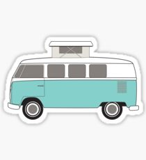 Retro Bus Pop Top Camper Sticker