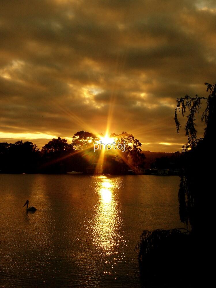 photoj S.A.,  River Murray Stormy Sunset by photoj