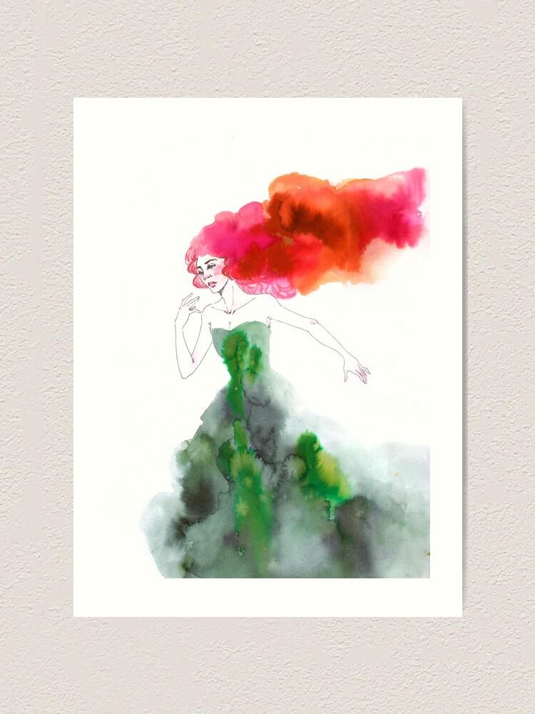 Alternate view of Fleeing the Fairytale Art Print