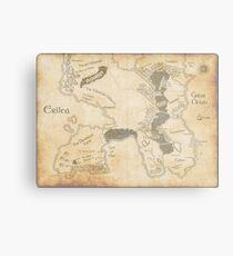 Erilea Map Metal Print