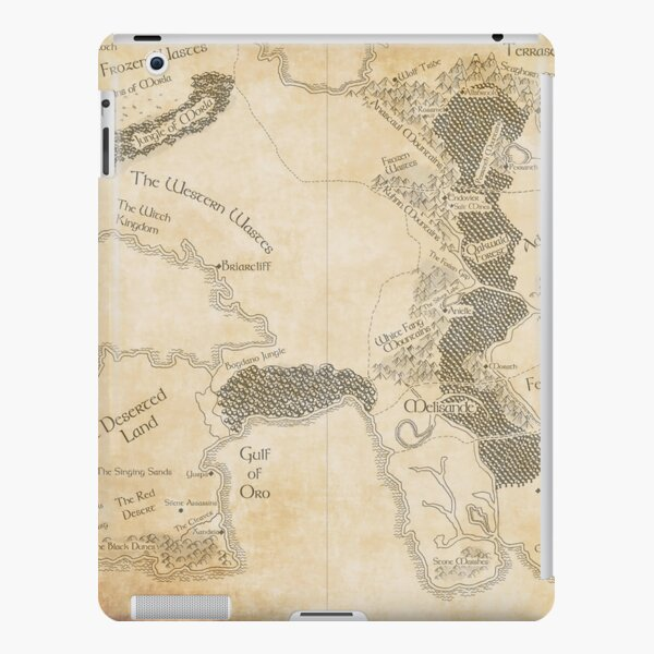Erilea Map iPad Snap Case