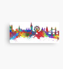 Watercolor art print of the skyline of London Canvas Print