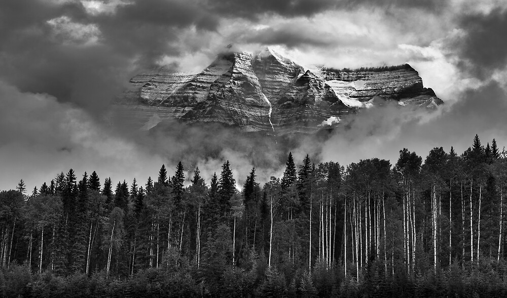 Clearing clouds: Mount Robson, British Columbia by Mark Houtzager