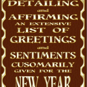 A Discourse ... New Year's card by tompanter