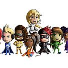 RESOLVEIT - Chibi Superheroes Assembled  by RESOLVEit-Store