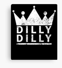 Dilly Dilly Beer Medieval Distressed Canvas Print
