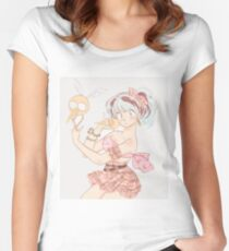 fashion lum invader Women's Fitted Scoop T-Shirt