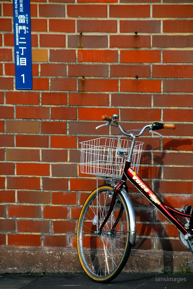 Tokyo bike & sign by iansimages