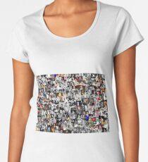 Elvis presley collage Women's Premium T-Shirt