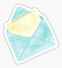 Turquoise envelope with a piece of paper Sticker
