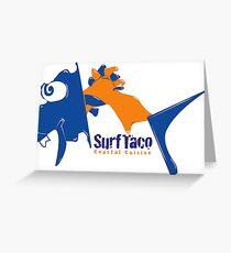 Surf Taco Fish Logo Greeting Card