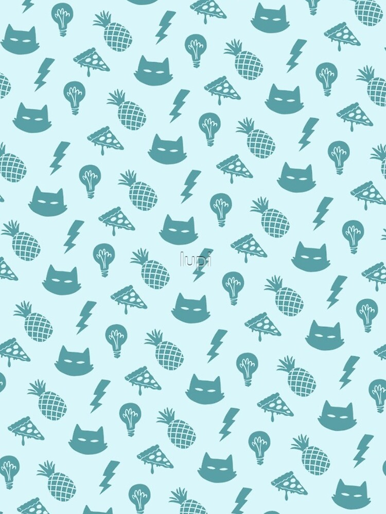 pizza pineapple cat pattern by lupi