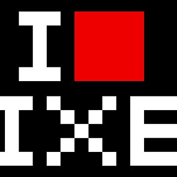 A retro love, I love pixel by dupabyte