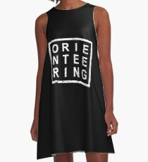 Stylish Orienteering A-Linien Kleid