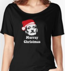 Murray Christmas with Santa hat Women's Relaxed Fit T-Shirt