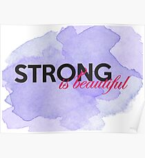 Strong is beautiful: breast cancer strong Poster