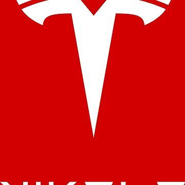 Nikola Tesla Logo White by daleharvey