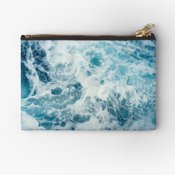 Sea Waves in the Ocean Zipper Pouch