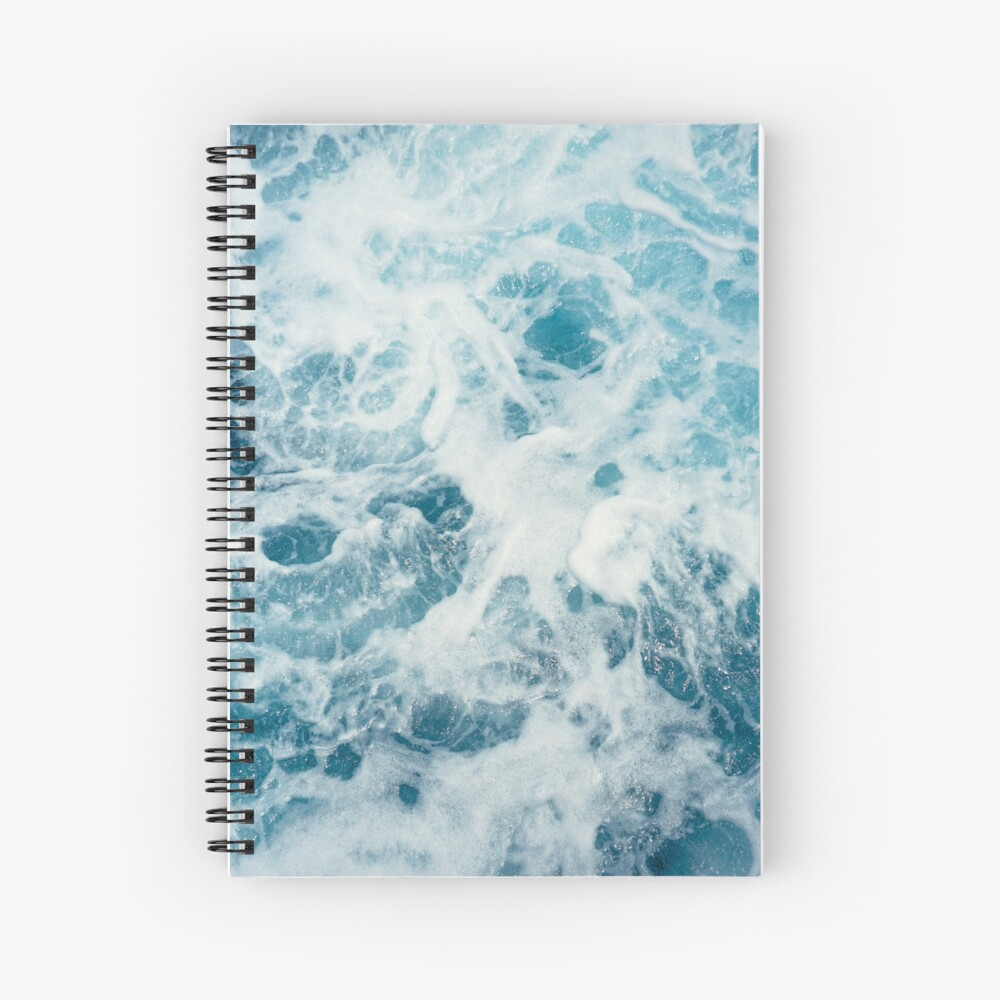 Sea Waves in the Ocean Spiral Notebook