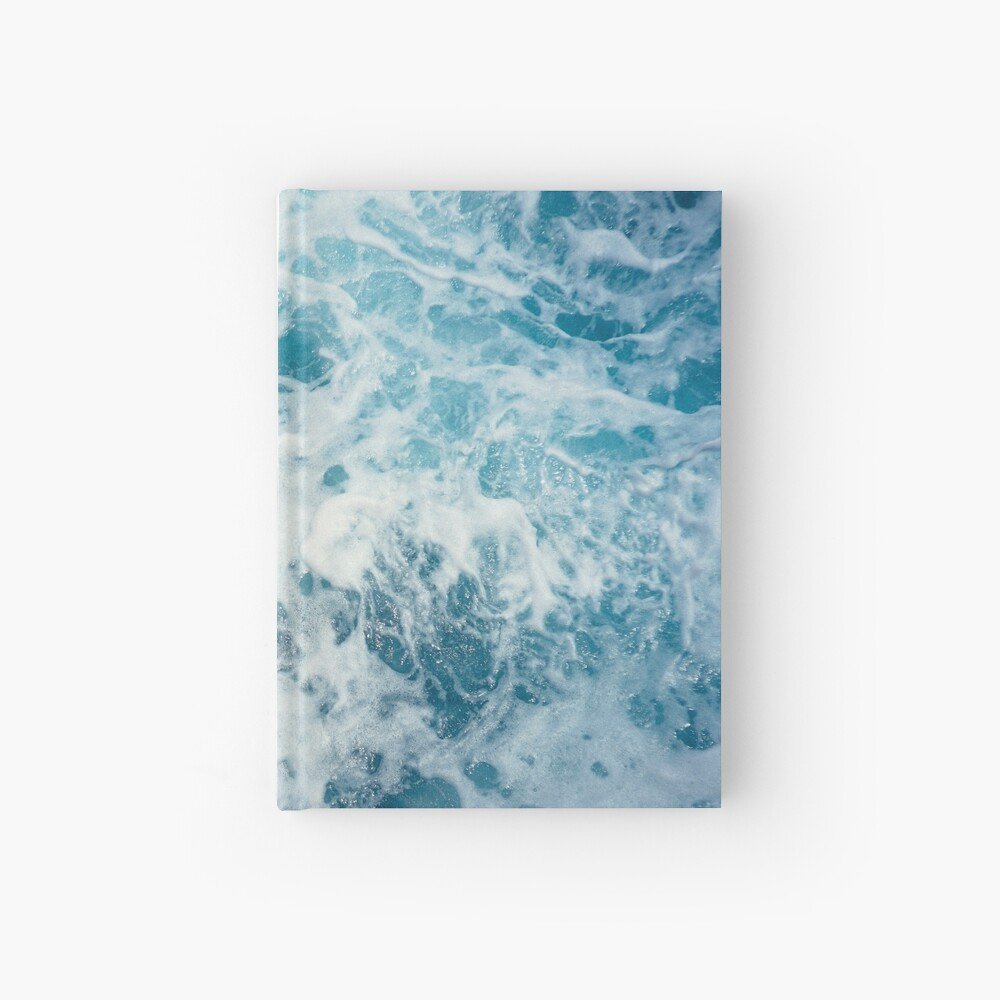 Sea Waves in the Ocean Hardcover Journal