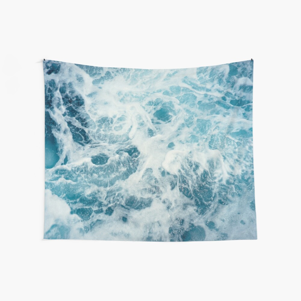 Sea Waves in the Ocean Wall Tapestry