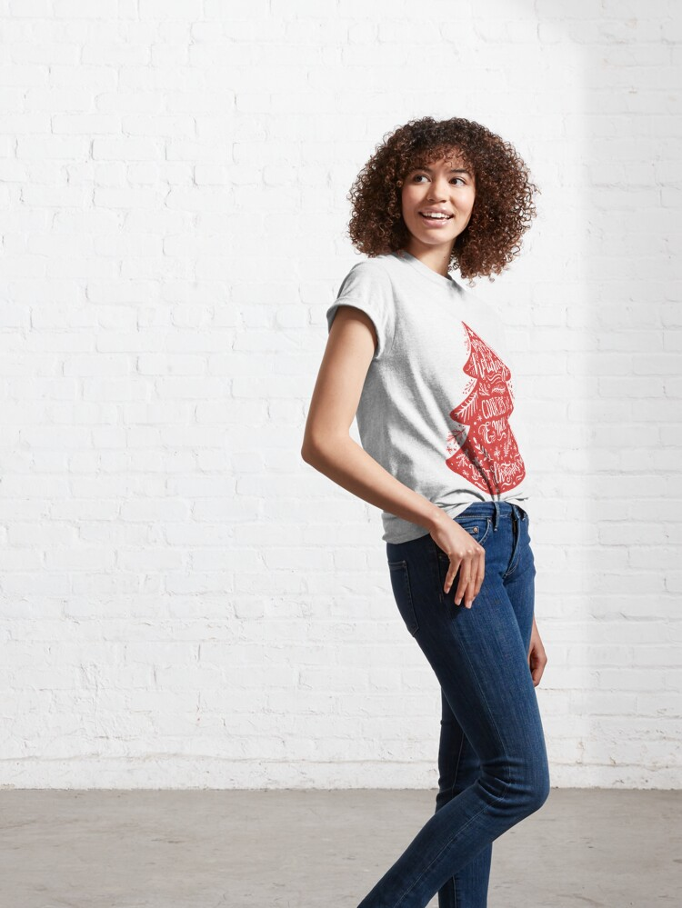 Alternate view of Christmas Pattern - Happy Holidays! Classic T-Shirt
