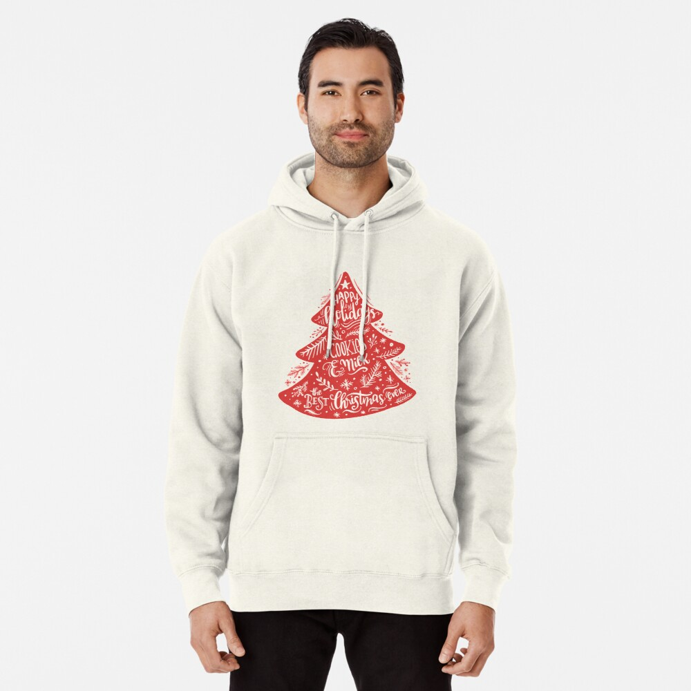Christmas Pattern - Happy Holidays! Pullover Hoodie