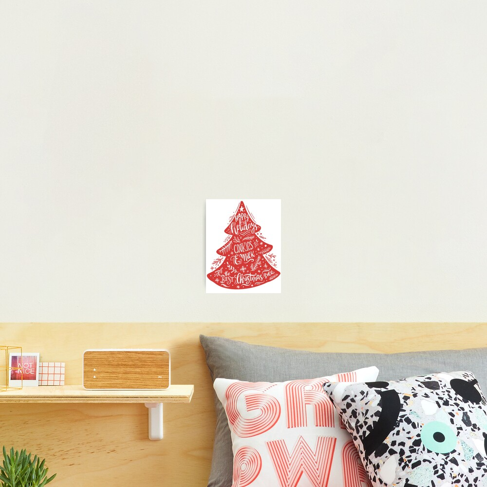 Christmas Pattern - Happy Holidays! Photographic Print