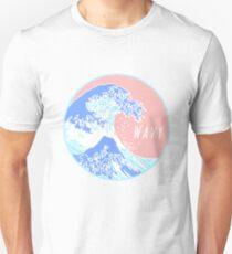 Ästhetische große wellenförmige Welle Unisex T-Shirt