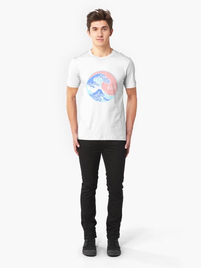 Vista alternativa de Camiseta ajustada Estética gran ola ondulada