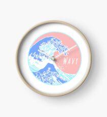 Aesthetic Great Wave Wavy Clock
