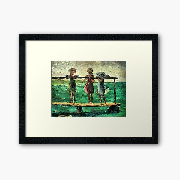 Three girls Framed Art Print