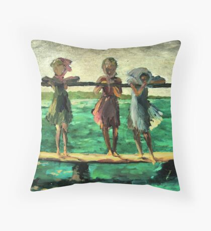 Three girls Throw Pillow